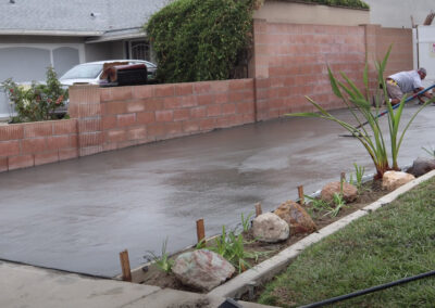 new residential driveway